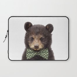Baby Bear With Bow Tie, Baby Animals Art Print By Synplus Laptop Sleeve
