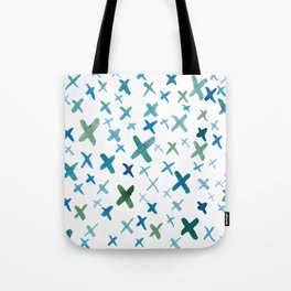 Painted X Tote Bag