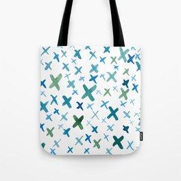 Painted X Tote Bag