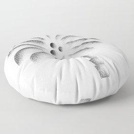 Palm Tree stippled art illustration Floor Pillow