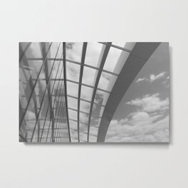 Sky Garden Rooftop, London - Black and White Metal Print