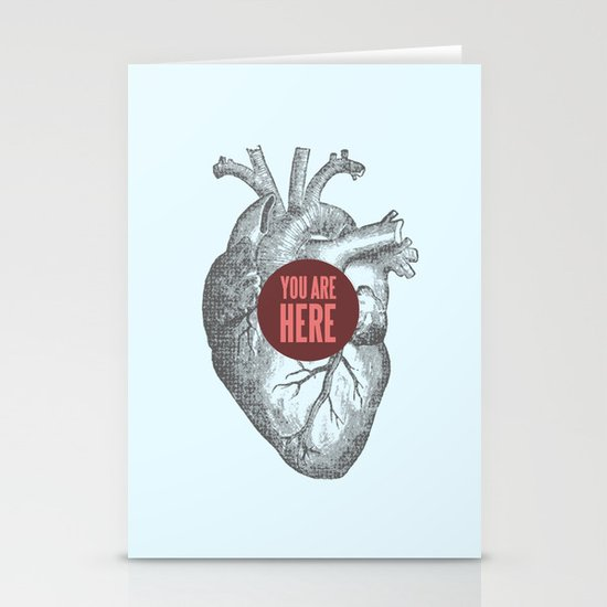 In My Heart Stationery Cards
