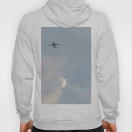Airplane and the moon Hoody