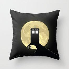 Nightmare Before A Tardis Throw Pillow