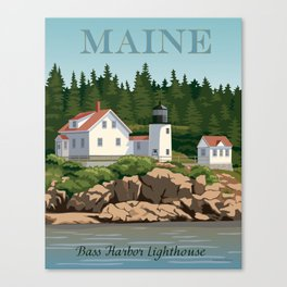 Bass Harbor Lighthouse Maine Canvas Print