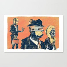 White Collar Robots Canvas Print