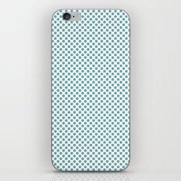 Aqua Sea Polka Dots iPhone Skin