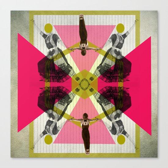 Bollywood geometrical gym Canvas Print