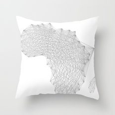 Vector Africa Throw Pillow