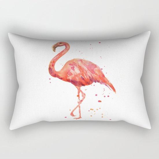 Flamingo, Pink Flamingo, Tropical, bird art, Florida Rectangular Pillow