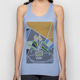 Flowers on window Unisex Tank Top