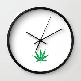 840 Smoke Double Funny Weed Smoking 420 T-shirt Wall Clock