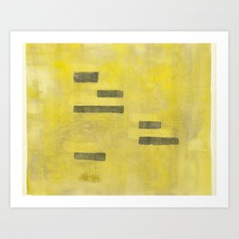 Stasis Gray & Gold 3 Art Print