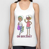 holiday Tank Tops featuring Holiday by Coily and Cute