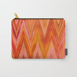Coral geometric tribal aztec chevron zig zag stripes ikat pattern andes zigzag hipster print Carry-All Pouch