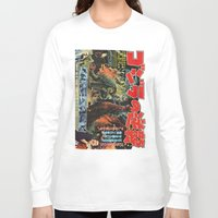 godzilla Long Sleeve T-shirts featuring Godzilla by Golden Boy