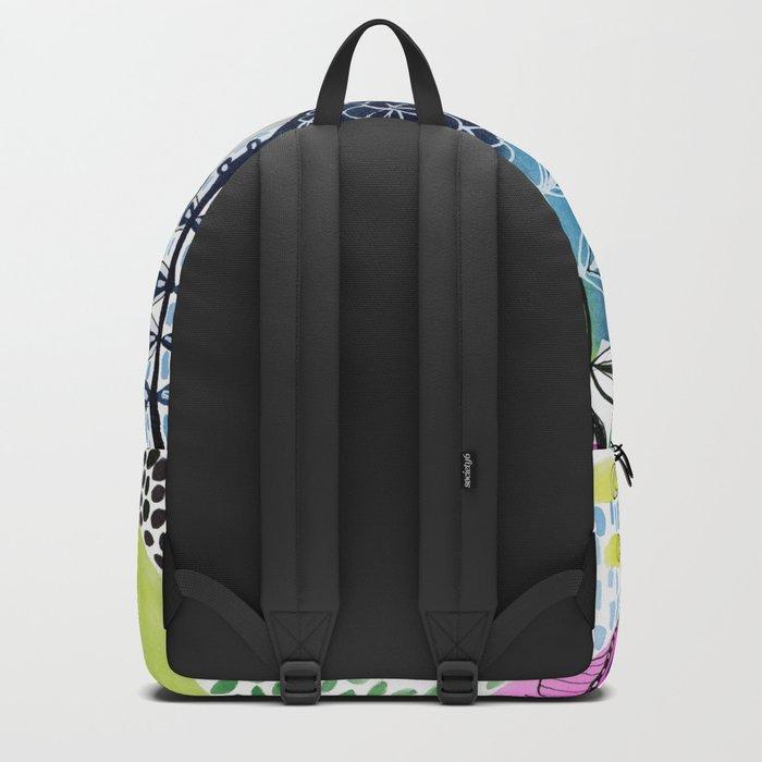 Indigo Blooms Backpack