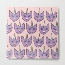 unicat - pink Metal Print