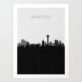 City Skylines: San Antonio (Alternative) Art Print