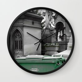 "Le recyclage (Cimetiere du Pere Lachaise, Paris) ""A SAFE PLACE"" series Wall Clock"