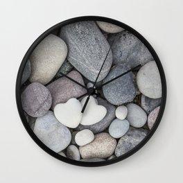 Heart Pebble Stone Mineral Love Symbol Wall Clock