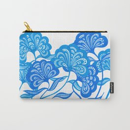 Blue Bloom Carry-All Pouch