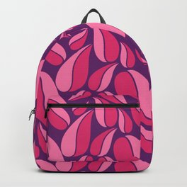 Deep shades of purple on natural ornament. Backpack