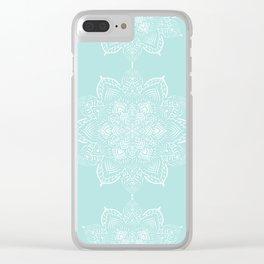 Winter Spirit Mint Clear iPhone Case