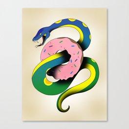 Donut Snake Canvas Print