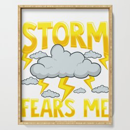 The Storm Fears Me Funny & Brave Meteorology Serving Tray