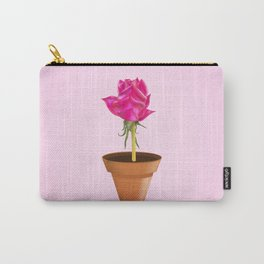Little Pink Rose Carry-All Pouch