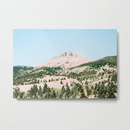 Happy Mountain #society6 #decor #buyart Metal Print