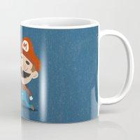 mario Mugs featuring Mario by Rod Perich