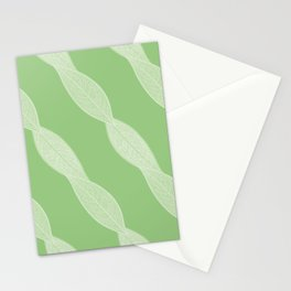 Twisted Skeleton Leaves Pattern Stationery Cards
