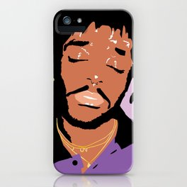 Lil Uzi Portrait (Purple) iPhone Case