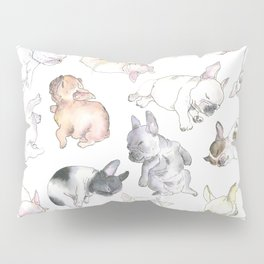 Sleepy French Bulldog Puppies Pillow Sham