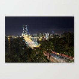 Bay Bridge Lights Canvas Print