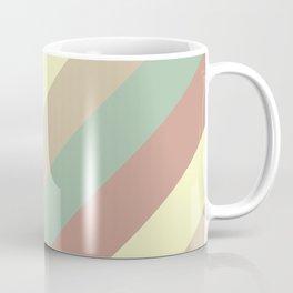 Natural Diagonal Stripe Pattern Coffee Mug