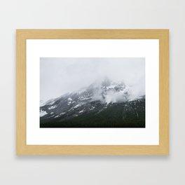 Mountains Landscape Photography | Maligne Lake Alberta Framed Art Print
