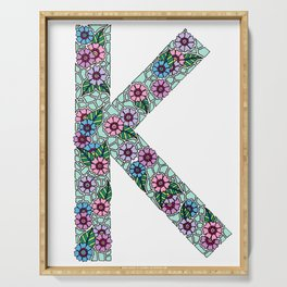 K Initial Serving Tray