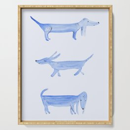 The Blue Dachshund Serving Tray