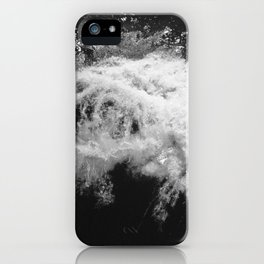 LAKE HURON WAVE B/W iPhone Case