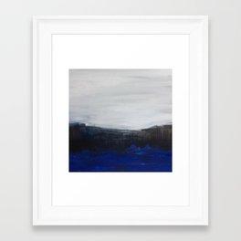 Black Indigo plain Framed Art Print