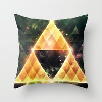 triforce Throw Pillows featuring Triforce by Spires