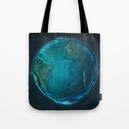 Globe: Relief Atlantic Tote Bag