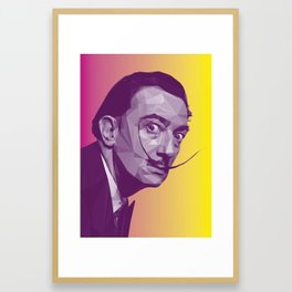 Salvador Dali Low Poly Collection Framed Art Print