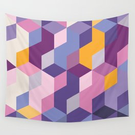 Violet Pattern Wall Tapestry