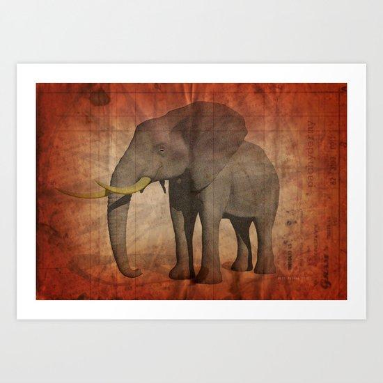 Pachydermy Art Print