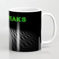 twin peaks Mugs featuring Twin Peaks  by Spyck