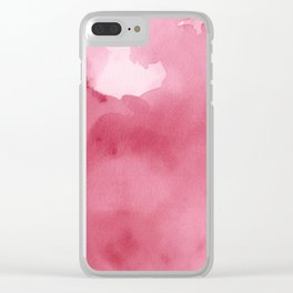 Abstract Pink Watercolor  Print Clear iPhone Case